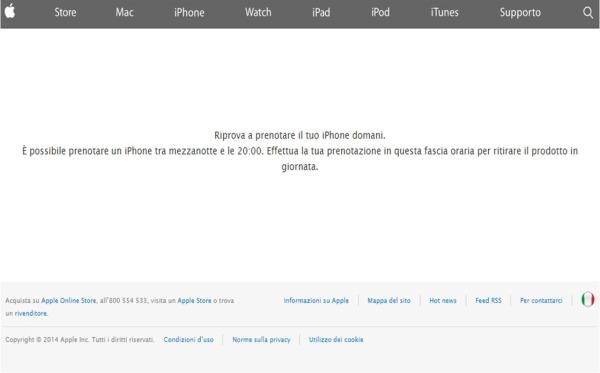 prenotazione iPhone 6 Plus