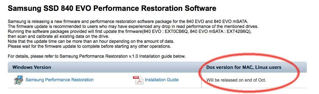 Aggiornamente firmware Samsung SSD 840 EVO