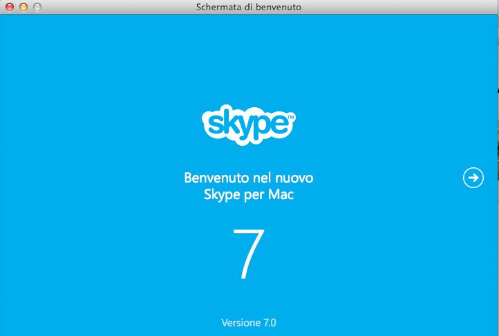 Nuovo Skype 7 per Mac OS X