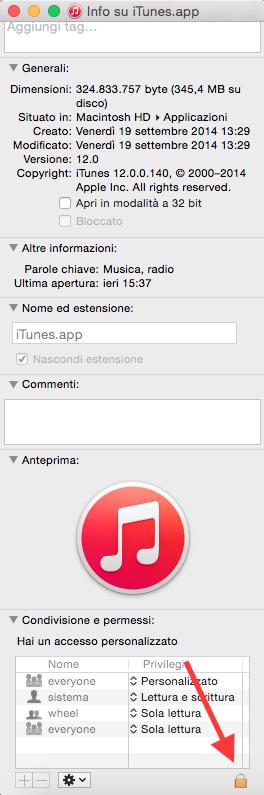 problema aggiornamento iTunes 12 su Yosemite