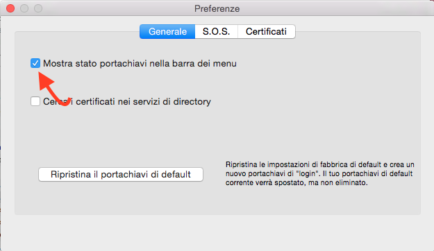 bloccare lo schermo Mac OS X Yosemite