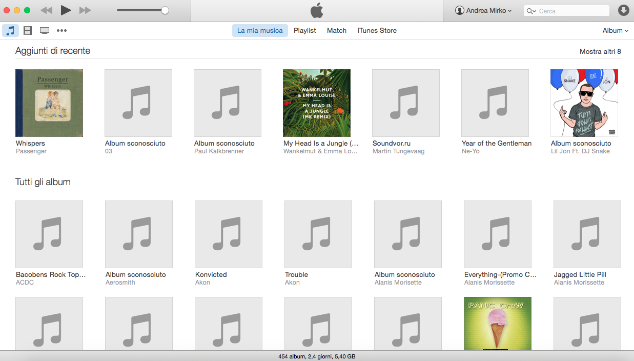 mostrare barra laterale iTunes 12