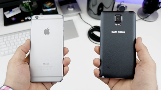 confronto apple iPhone 6 Plus vs samsung galaxy note 4