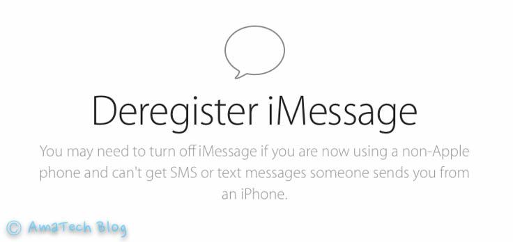 Disattivare definitivamente iMessage