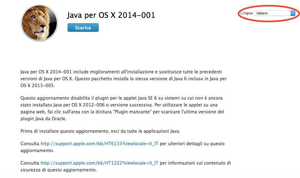 Installare Java su Yosemite