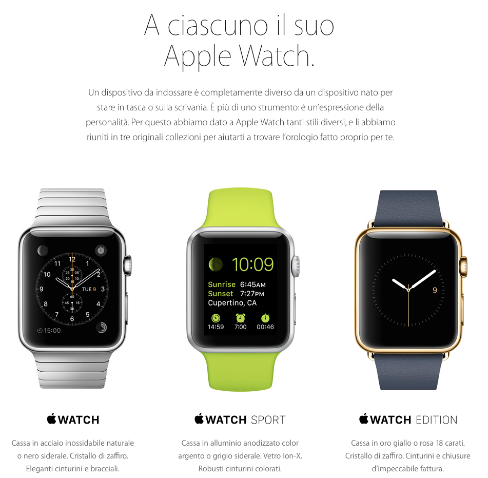 quando sarà disponibile Apple Watch