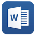 Word iOS logo