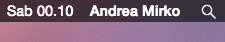 [GUIDA] Visualizzare nome utente Mac in alto destra
