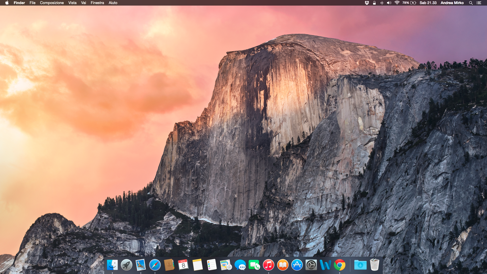 abilitare dark mode Yosemite