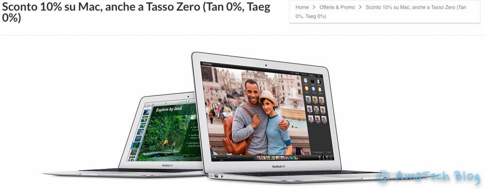 acquistare Mac a tasso zero