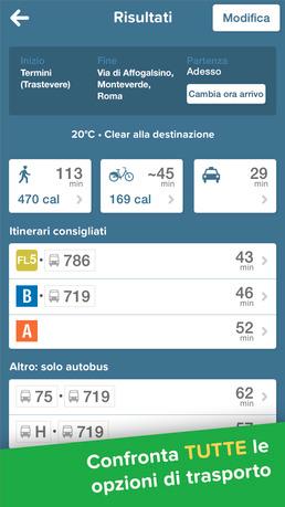 app per trovare mezzi pubblici in città