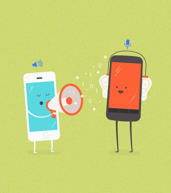 scambio dati iOS Android