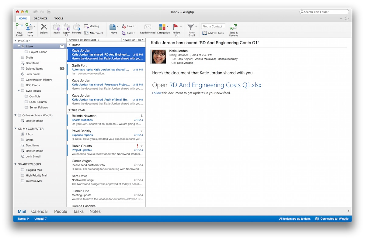 Nuovo Outlook per Mac
