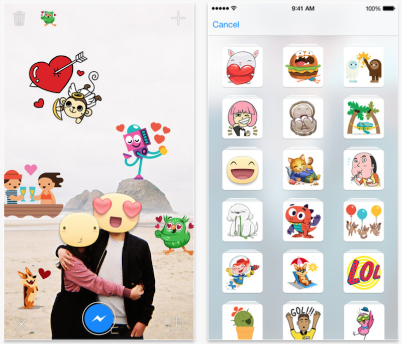 Stickered for Messenger iOS