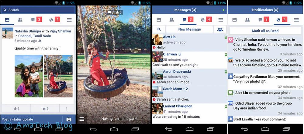 app Facebook dispositivi Android non recenti