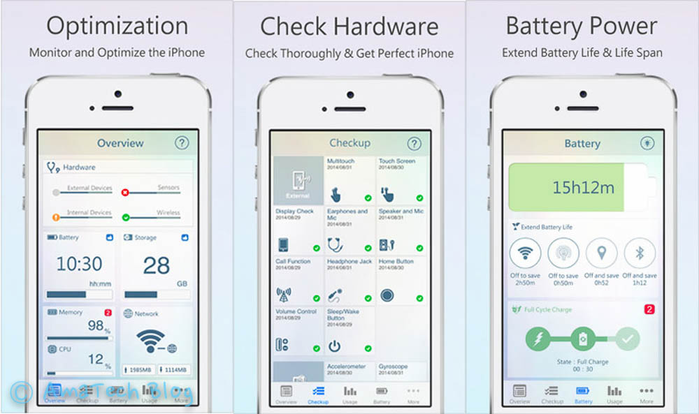 app dignostica hardware iPhone