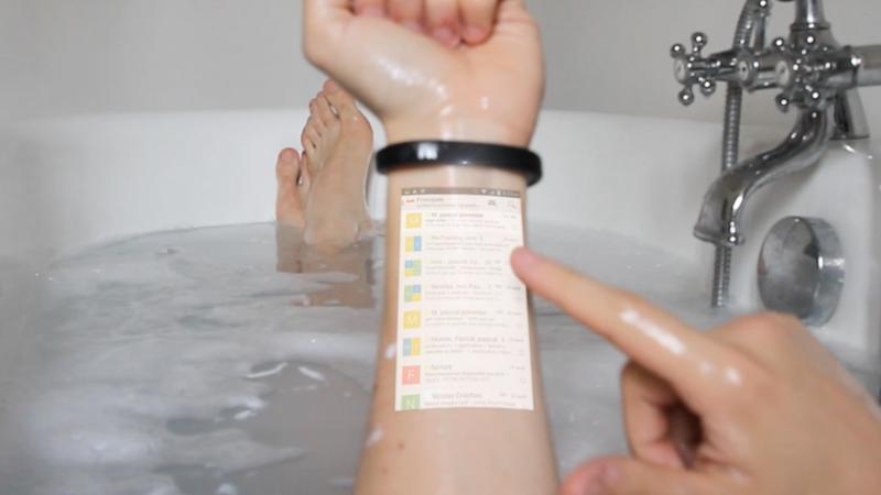 cicret bracelet il braccialetto smartphone