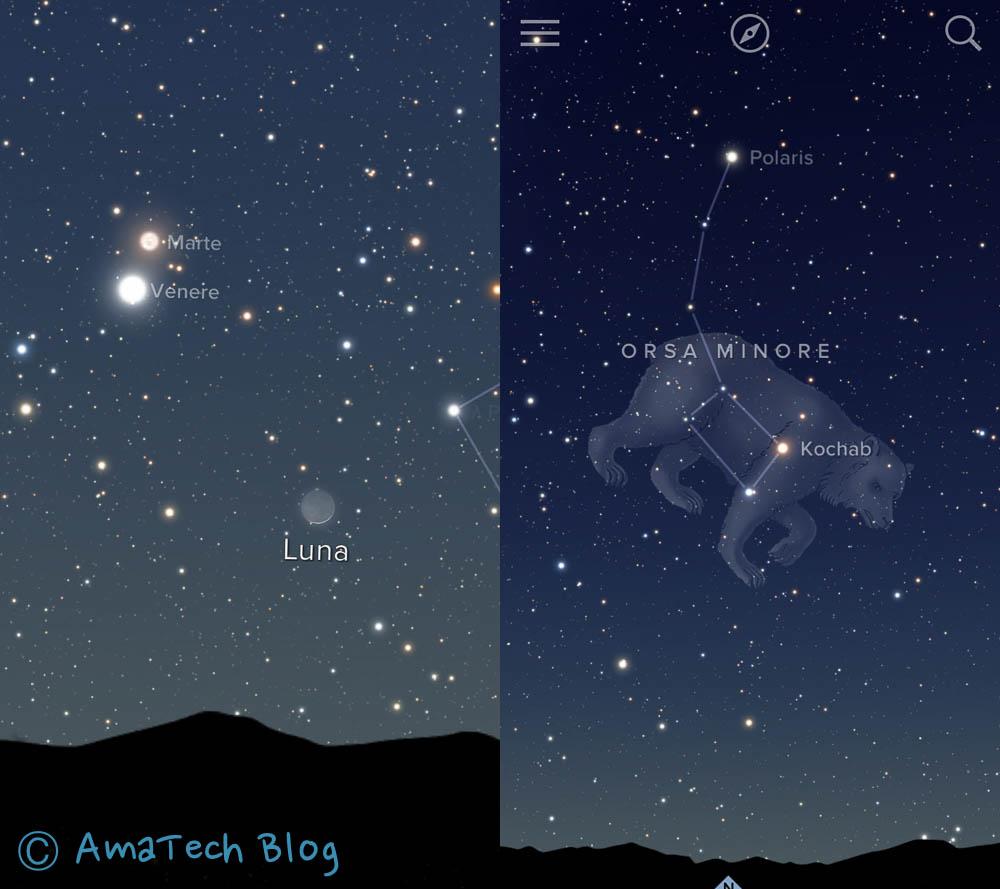 recensione sky guide - mappa stellare