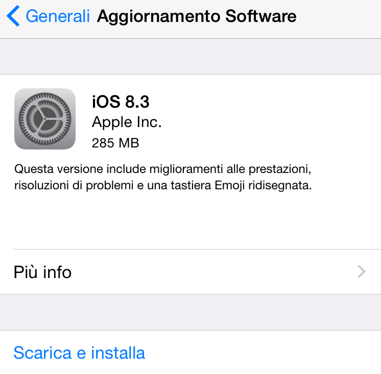 Apple rilascia iOS 8.3