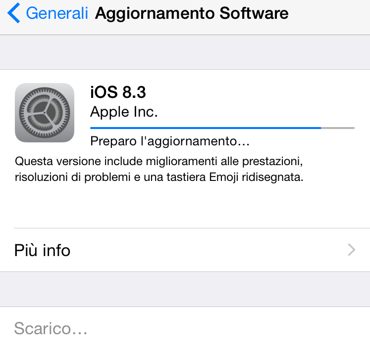 apple rilascia iOS 8.3 per iPhone e iPad