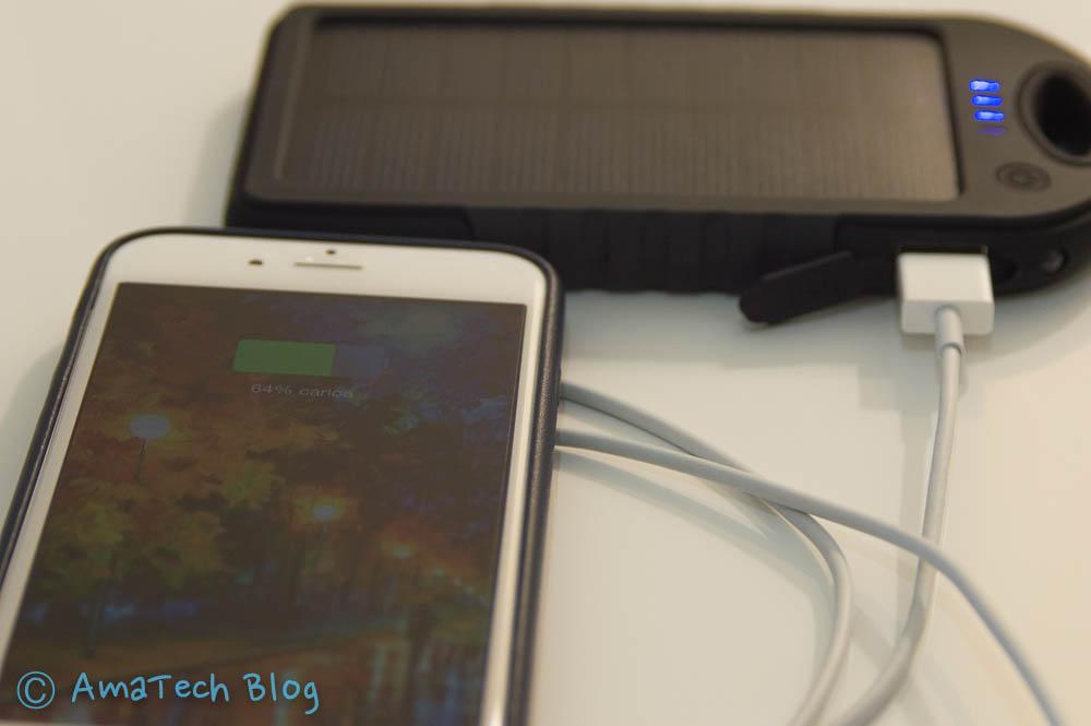batteria portatile solare iPhone