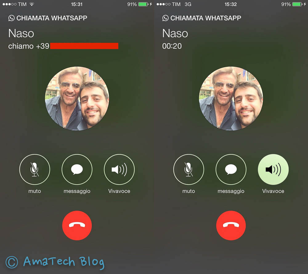 chiamate vocali whatsapp iOS