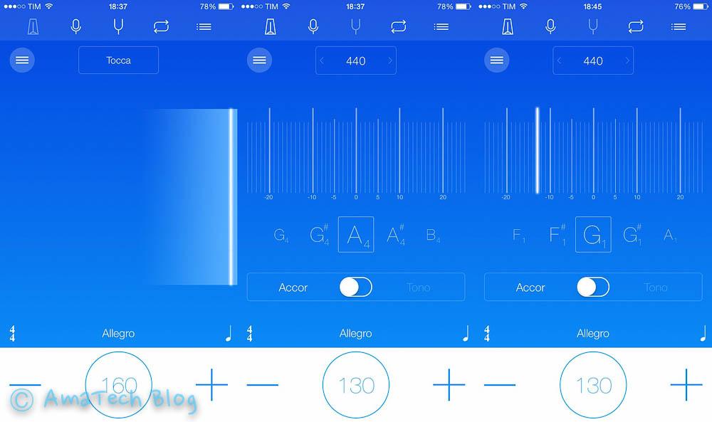 app accordatore metronomo registratore iPhone