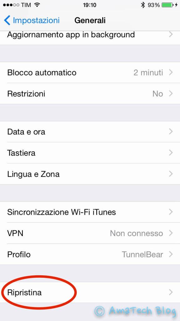 riduzione luminosità iOS 8.4