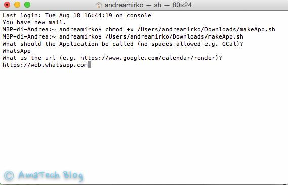 Whatsapp Web come app su Mac