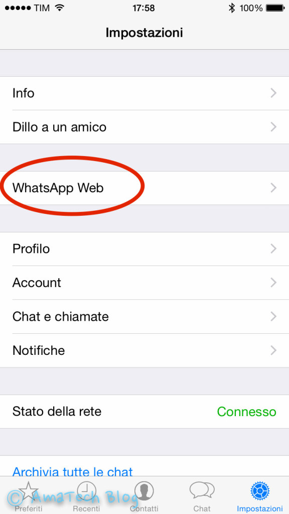 guida whatsapp web iPhone