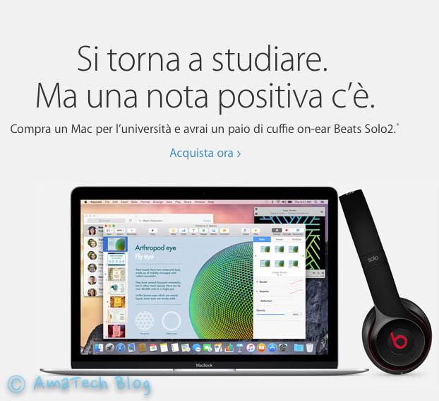 sconto studenti acquisto Mac