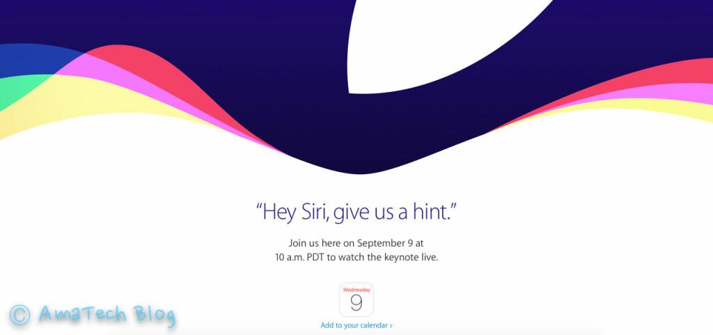 Apple Keynote Settembre 2015