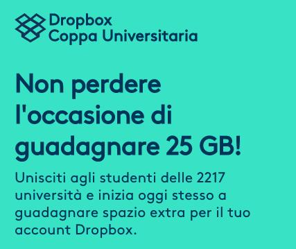 Dropbox offre spazio gratuito