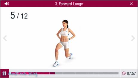allenare i glutei con l'app iOS Runtastic Butt Trainer