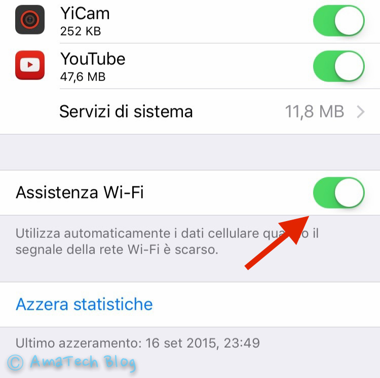 migliorare wifi ios 9