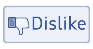 pulsante Non mi piace Dislike Facebook