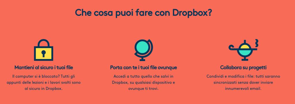spazio aggiuntivo gratuito con dropbox campus cup