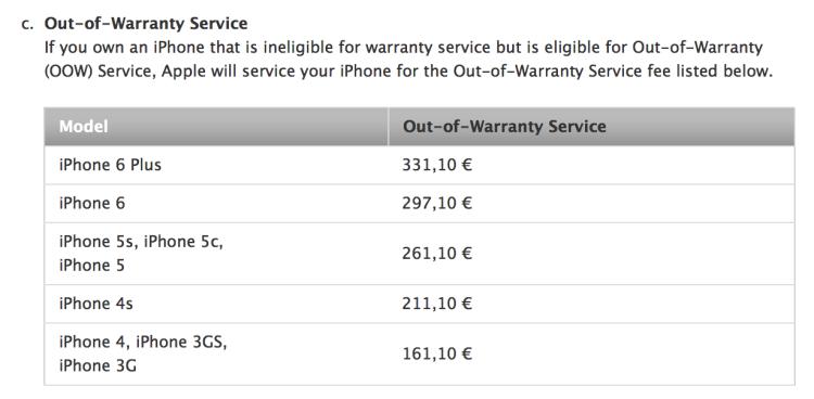 costi riparazione assistenza iPhone