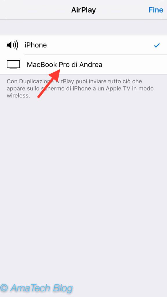 guida visualizzare schermo iphone mac