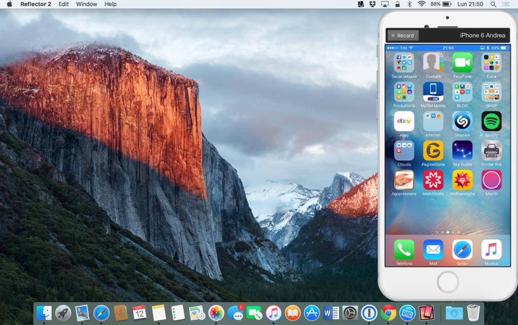 visualizzare schermo iphone su mac