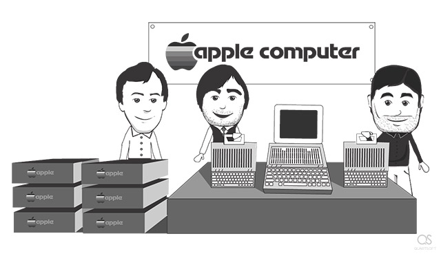 biografia steve jobs in stile cartoon