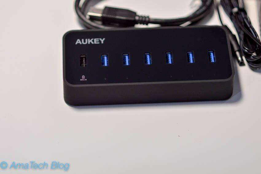 recensione hub usb 3.0 aukey 7 port