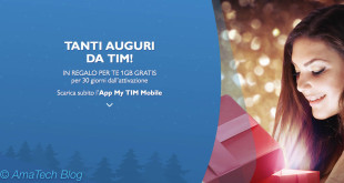 1Gb di internet in regalo con TIM per Natale