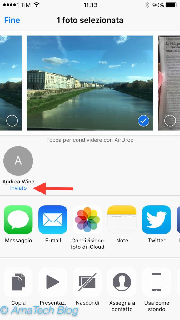 Guida inviare file tramite airdrop iPhone