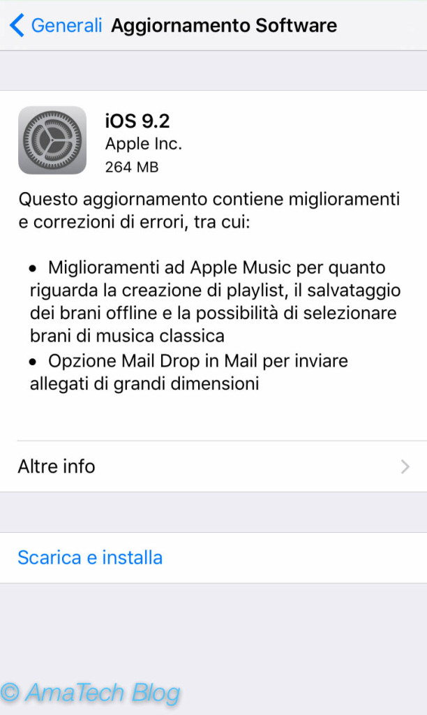 Apple rilascia iOS 9.2
