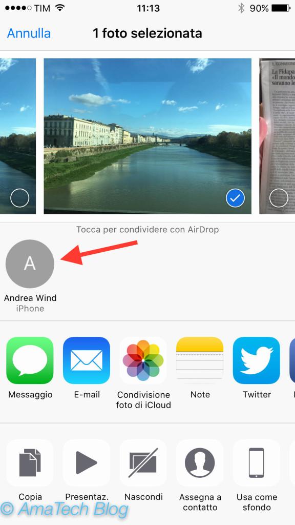 guida inviare file tramite airdrop