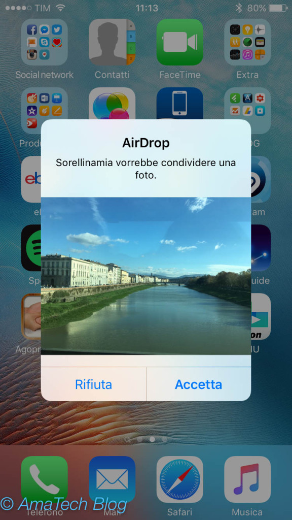 inviare file tramite AirDrop iPhone iPod touch iPad Mac