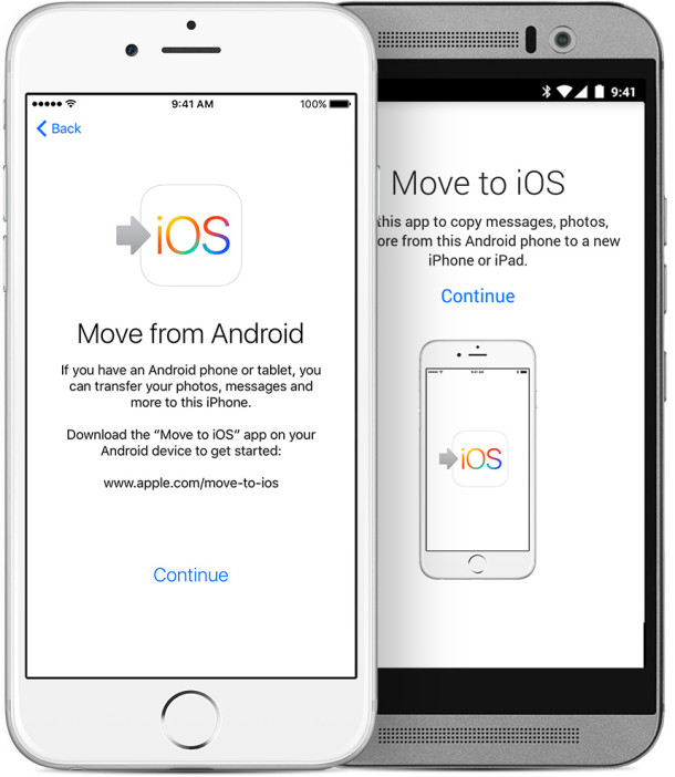 passare da Android ad iOs iPhone