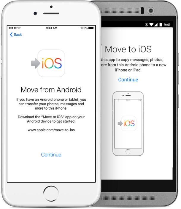 passare da Android ad iOs iPhone