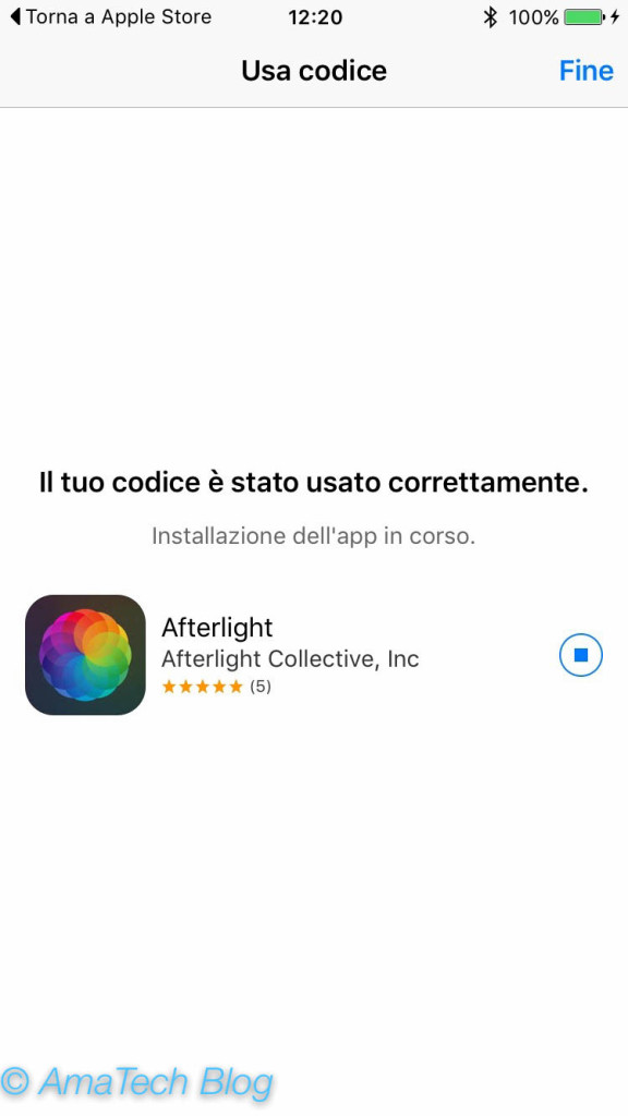 scaricare gratis Afterlight grazie all'app Apple Store